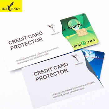 RFID Blocking paper card cover Waterproof Smart Credit Card Sleeve Anti-scaning Card Holder wholesale 10 pcs/lot