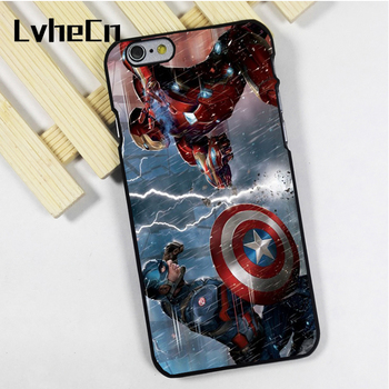 Lvhecn Телефон чехол для iPhone 4 4S 5 5S 5C SE 6 6 S 7 8 Plus x Ipod Touch 4 5 6 Marvel Капитан Америка Super Heroes