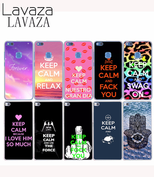 Lavaza 522O Жесткий Чехол для Huawei P8 P9 P6 P7 P10 Lite Plus для Honor 8 Lite 6 7 G7 4C 4X Keep Calm and